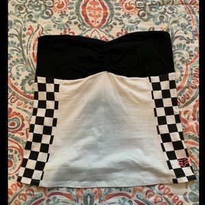Fox racing strapless top
